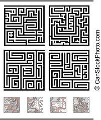 labyrinth, spiel, satz