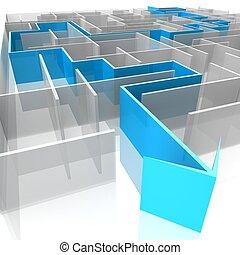labyrinth - a labyrinth of transparent blocks through which...