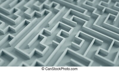 Labyrinth. tangled way.