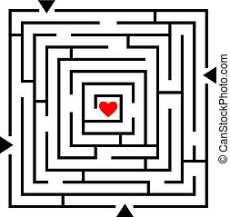 Labyrinth to heart puzzle