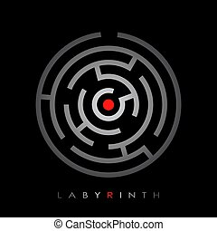 Labyrinth vector poster