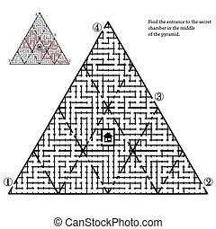 Labyrinth with four entries and only one correct way - ...