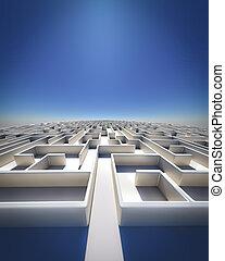 labyrinthe, à, infinité
