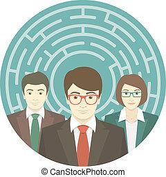 labyrinthe, équipe