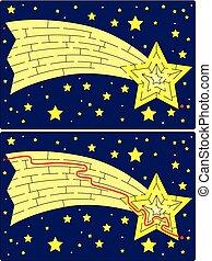 labyrinthe, étoile filante, facile
