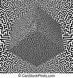 labyrinthe, bloc, fond