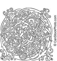 labyrinthe, brainteaser, vecteur, boucle