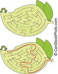 labyrinthe, chenille