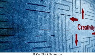 labyrinthe, concept, créativité