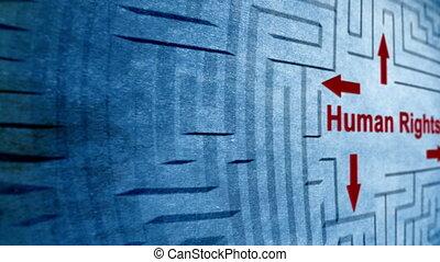 labyrinthe, concept, droits homme