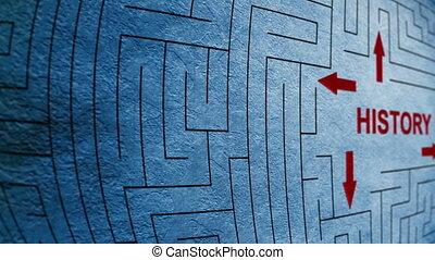 labyrinthe, concept, histoire