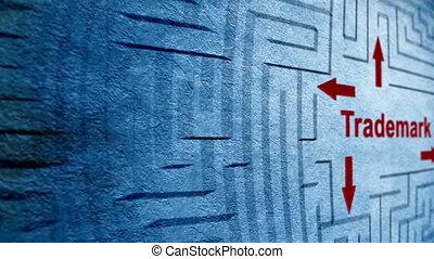 labyrinthe, concept, marque déposée