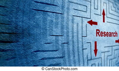 labyrinthe, concept, recherche
