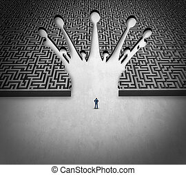 labyrinthe, direction