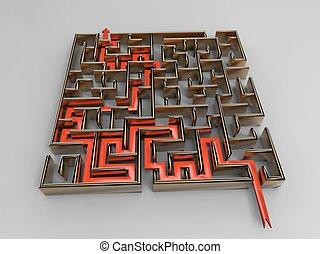 labyrinthe, emettere
