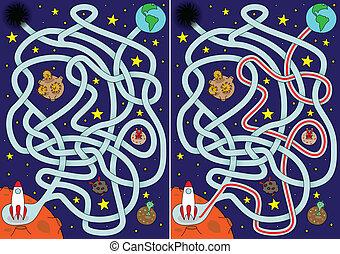 labyrinthe, espace