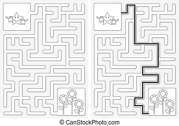 labyrinthe, facile, étoile, peu