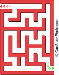 labyrinthe, fond