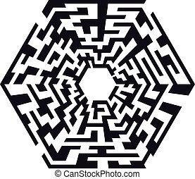 labyrinthe, hexaeder