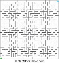 labyrinthe, illustration, vecteur