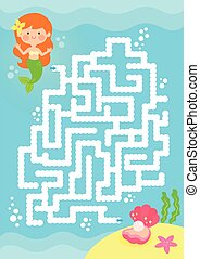 labyrinthe, jeu, sirène