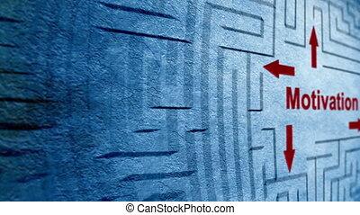 labyrinthe, motivation, concept