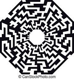 labyrinthe, octaeder