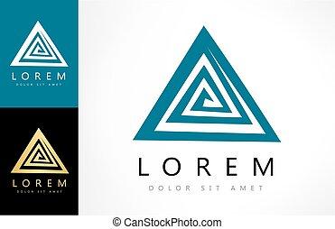 labyrinthe, résumé, rebus, logo., puzzle, logic.