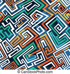 labyrinthe, résumé, seamless, modèle