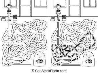 labyrinthe, recyclage