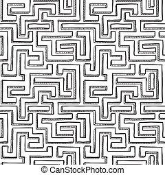 labyrinthe, seamless, modèle