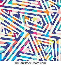 labyrinthe, seamless, résumé, modèle