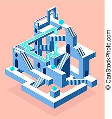labyrinthe, secrets, résumé, construction, secrets