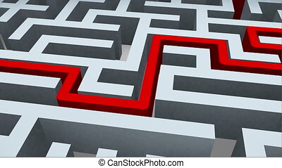labyrinthe, solution