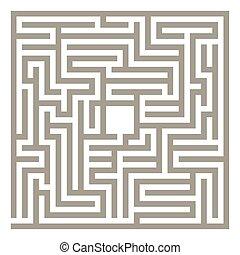 labyrinthe, vecteur