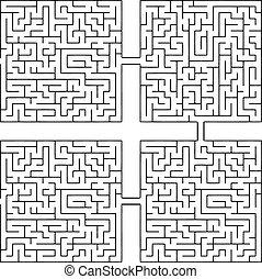 labyrinthe, vicissitudes, vie