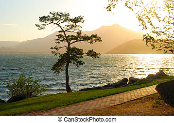 lac, beauté