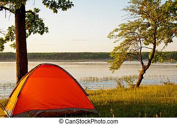 lac, camping
