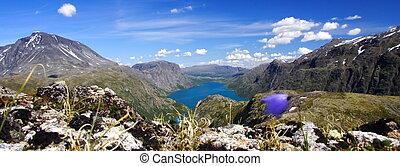 lac montagne, panorama