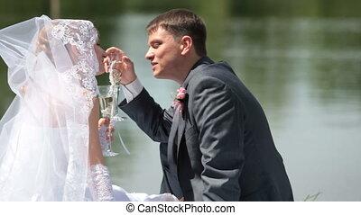 lac, nouveaux mariés
