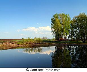 lac, paysage