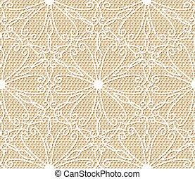 laccio, modello, seamless, sfondo beige, bianco