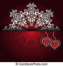 laccio, valentines, reale, lusso, fondo, giorno