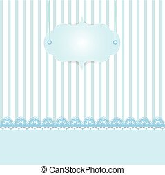 Lace and stripes blue background vintage style, Greeting card, template or background