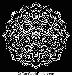 Lace background. Beautiful Mandala Vector vintage...