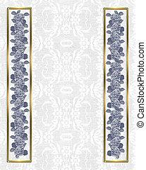 Lace background hydrangea border - Image and illustration...