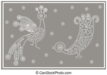 lace birds card 1