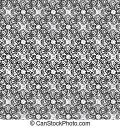 Lace black seamless pattern