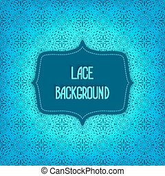 lace blue background