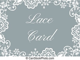 lace border card - Template of card with white lace border...